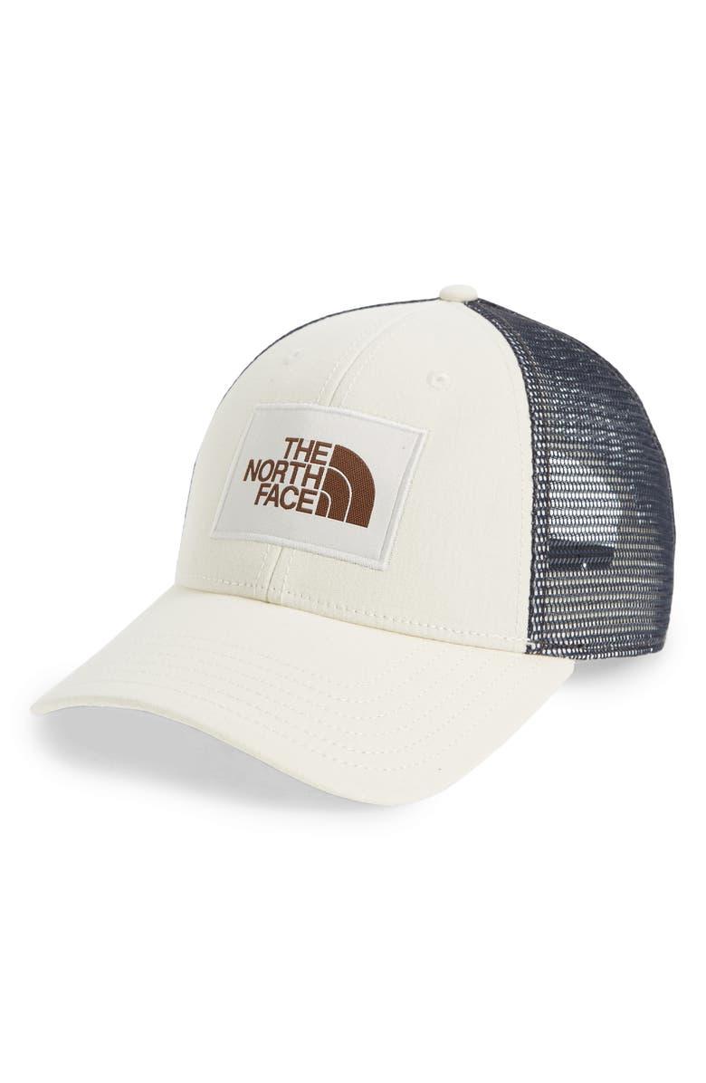 THE NORTH FACE Mudder Trucker Hat, Main, color, VINTAGE WHITE/ VINTAGE WHITE