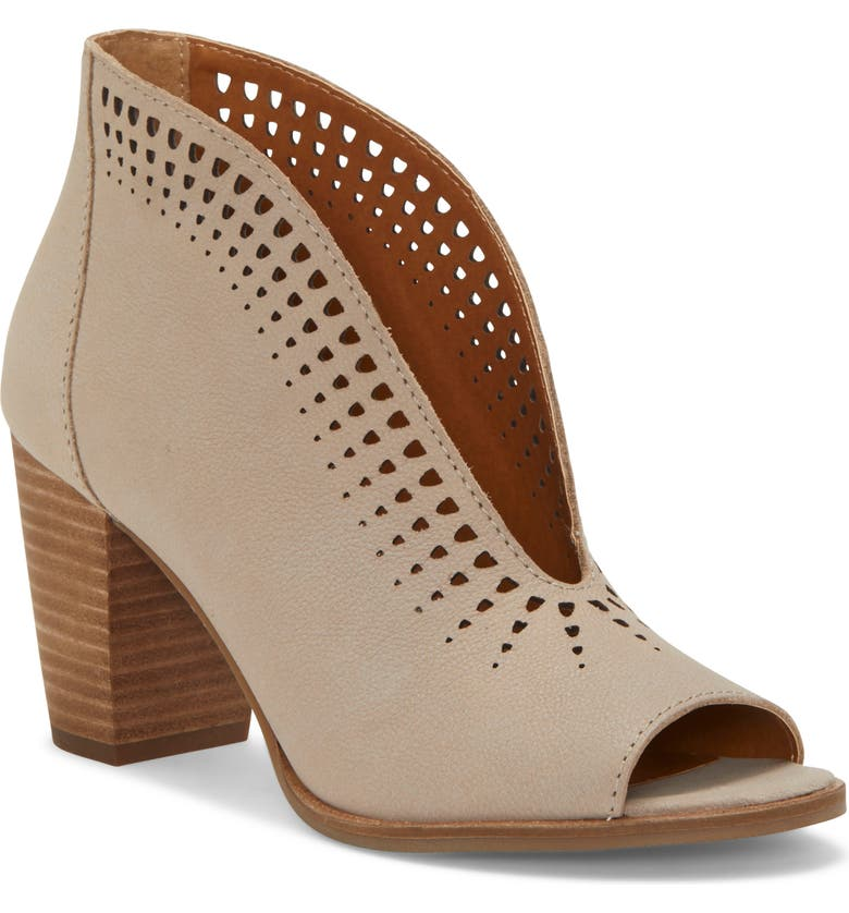 LUCKY BRAND Joal Bootie, Main, color, CHINCHILLA LEATHER