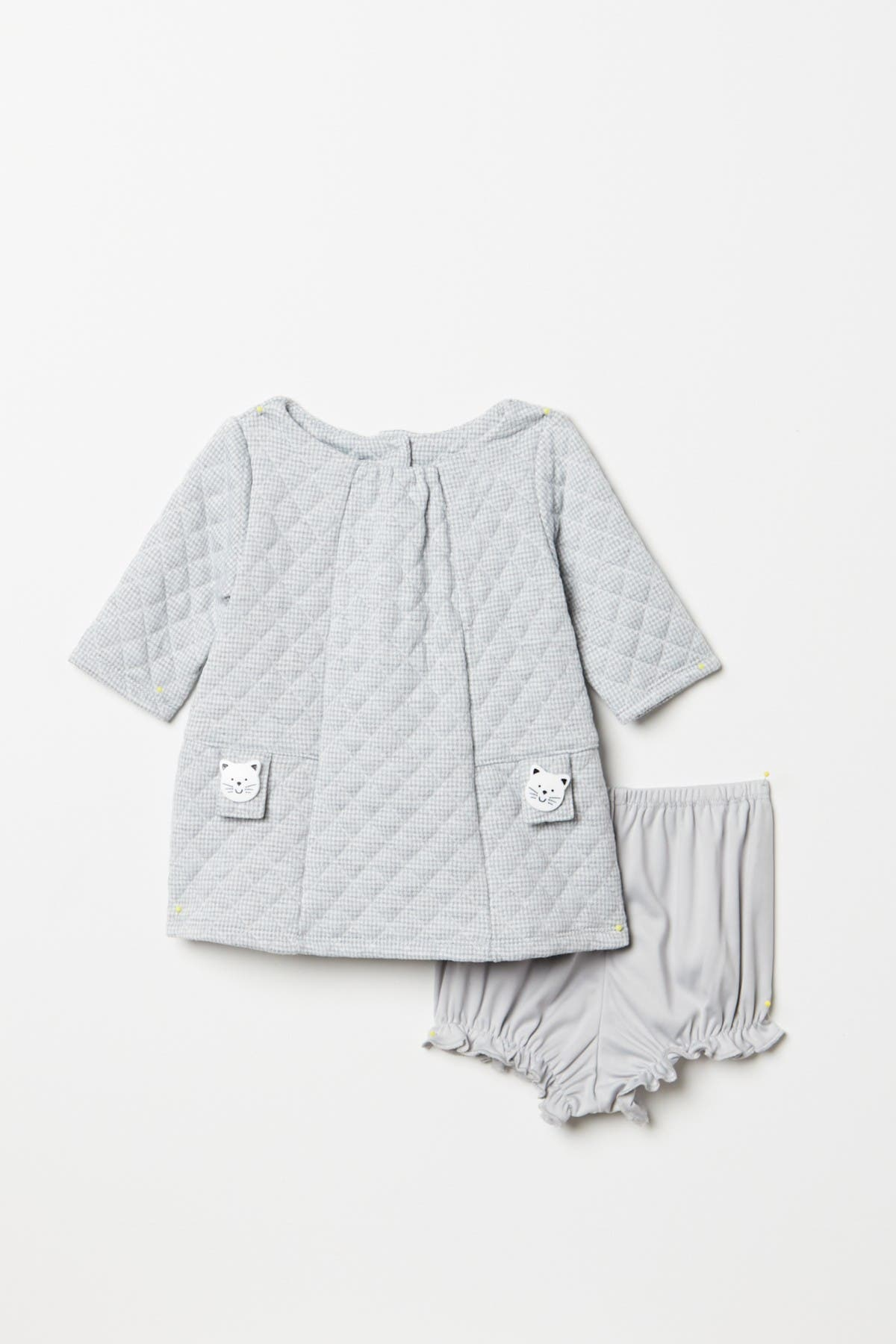 Image of Pippa & Julie Quilted Kitty Detail Shift Dress