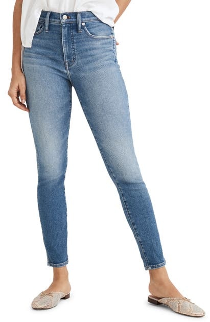 Madewell Denims 10-INCH HIGH WAIST CROP SKINNY JEANS