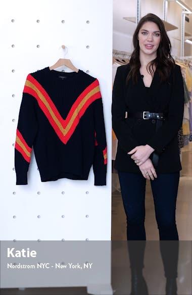 Leon Chevron Rib Cotton Blend Sweater, sales video thumbnail