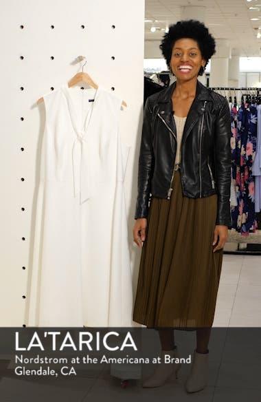 Ruthie Tie Neck Crepe Dress, sales video thumbnail