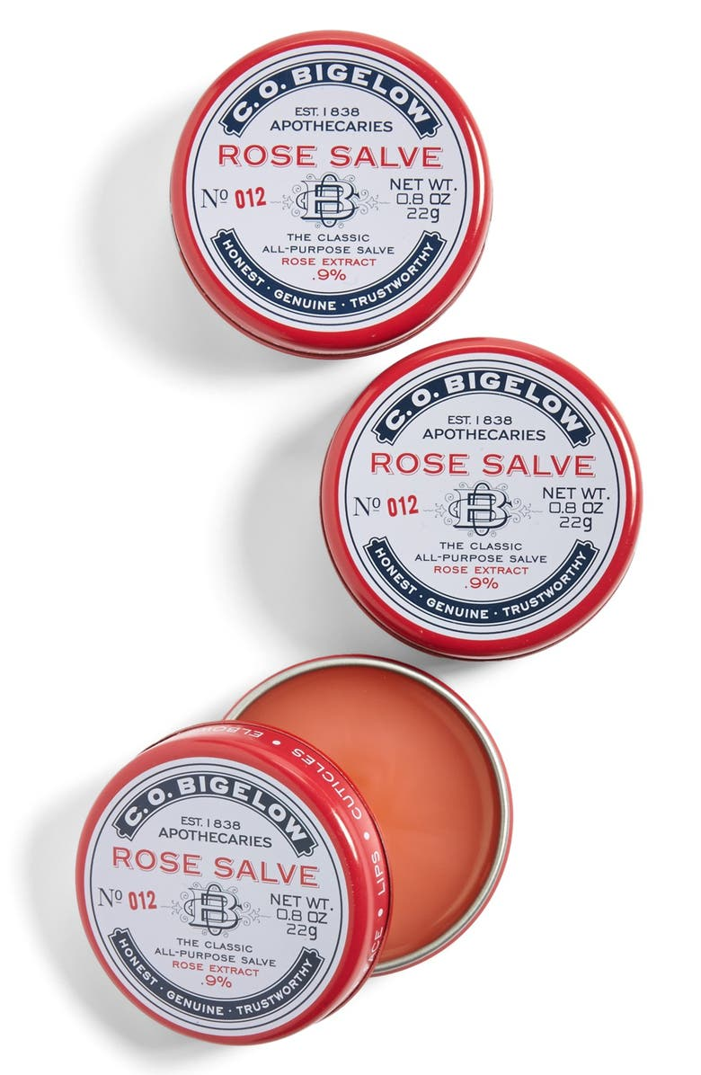 C.O. BIGELOW <sup>®</sup> Rose Salve Lip Balm Trio, Main, color, 000