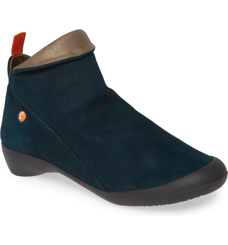 SOFTINOS BY FLY LONDON Farah Bootie, Main, color, DARK PETROL LEATHER
