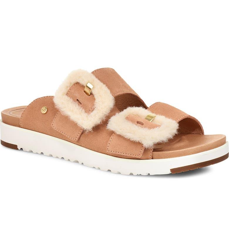 UGG<SUP>®</SUP> Fluff Indio Slide Sandal, Main, color, ARROYO SUEDE