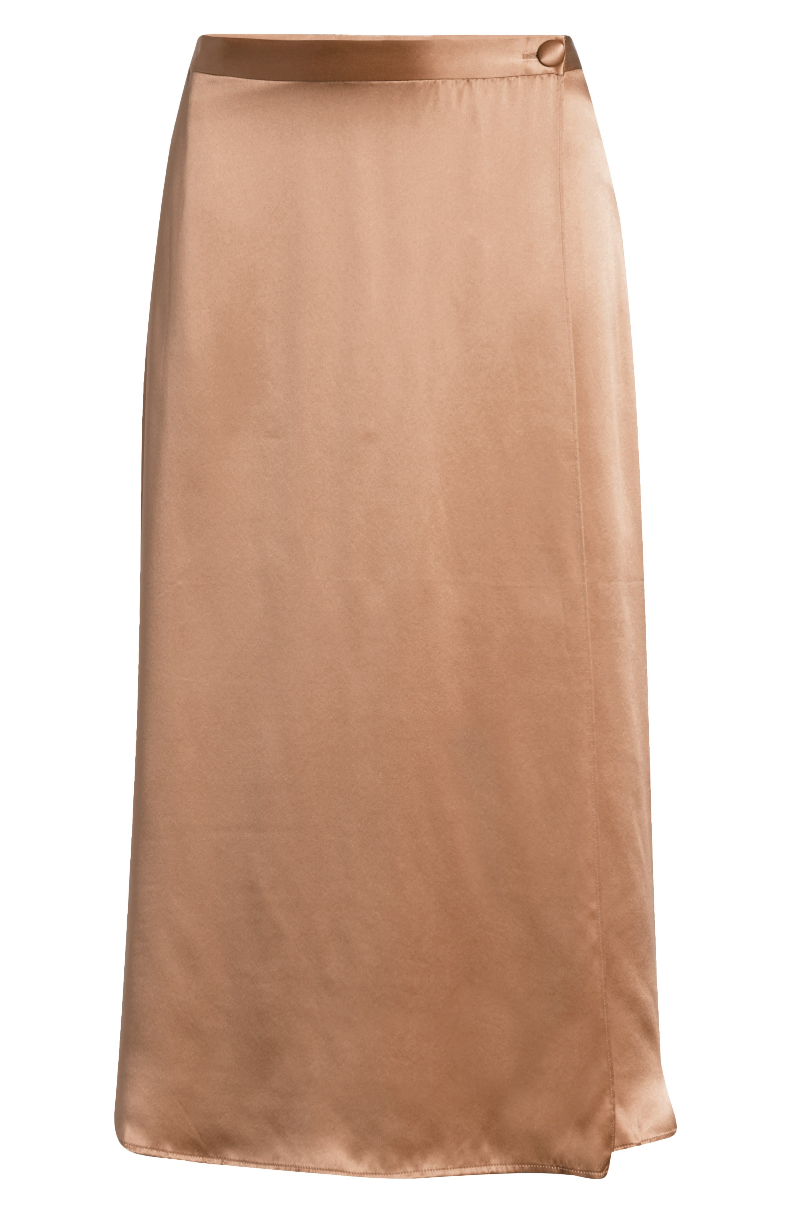 Take on the day or night in floaty style with this slippery silk wrap skirt in a desirable midi length that is fun to pair with casual and formal pieces alike. Style Name: Reformation Jones Midi Wrap Silk Skirt. Style Number: 6141225. Available in stores.