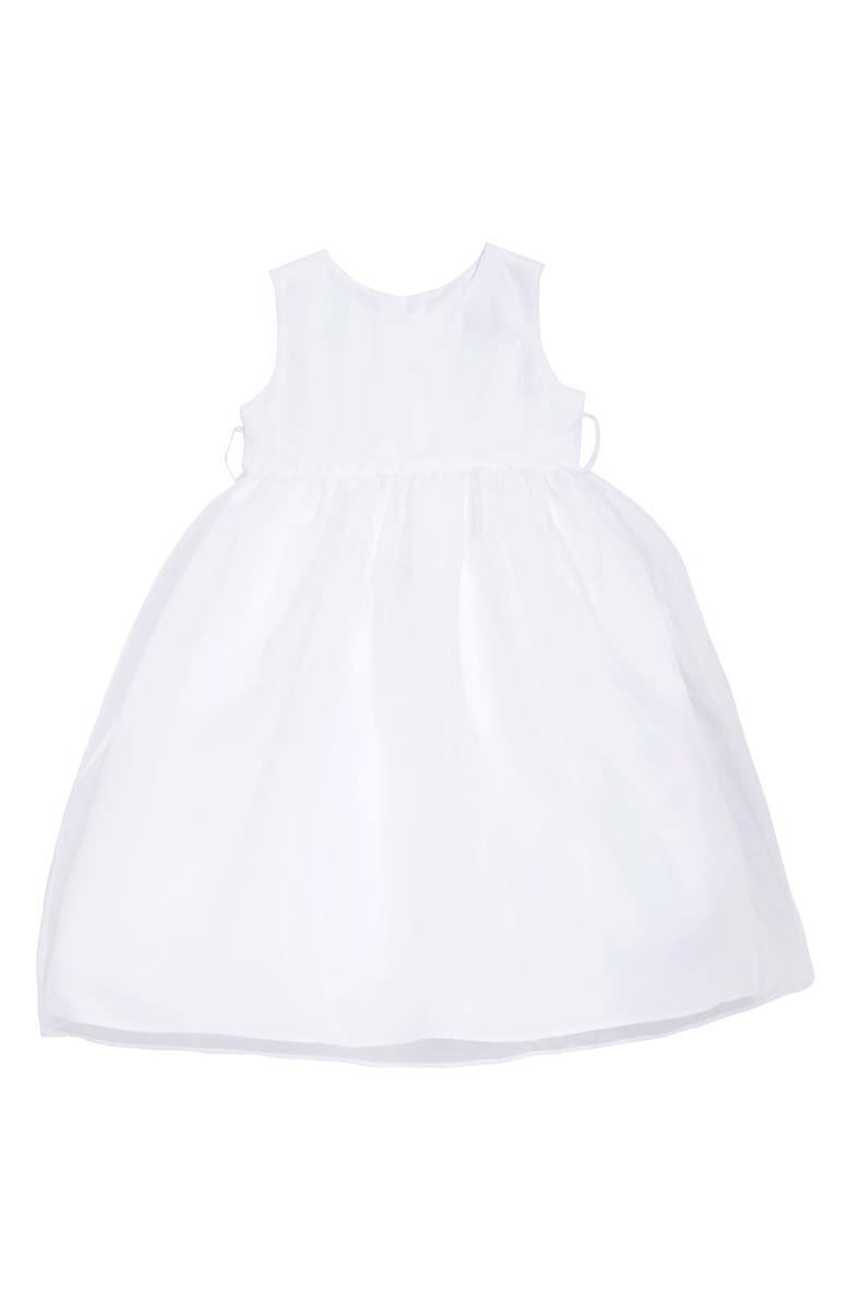 US ANGELS The Organza Tank Dress, Main, color, WHITE