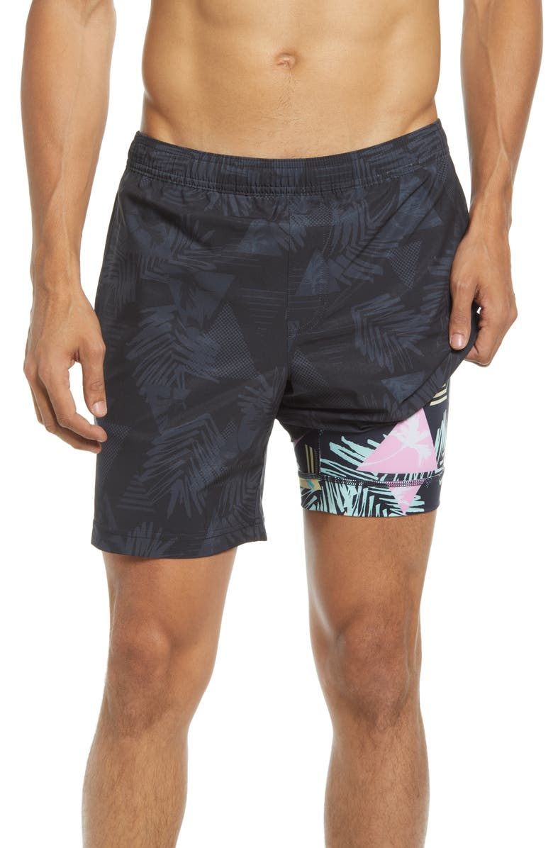 CHUBBIES The Palm Dot Coms Woven Shorts, Main, color, OXFORD
