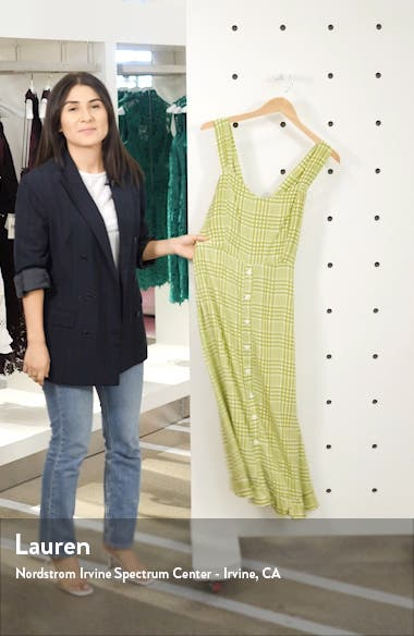 Yasmin Plaid Midi Dress, sales video thumbnail
