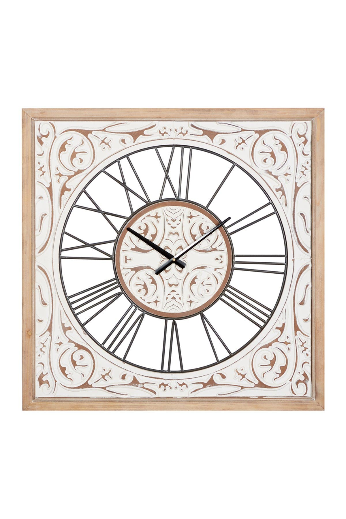 Willow Row White Wood Farmhouse Wall Clock 29 X 29 X 2 Nordstrom Rack