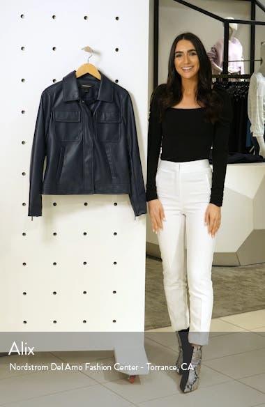 Boxy Faux Leather Jacket, sales video thumbnail