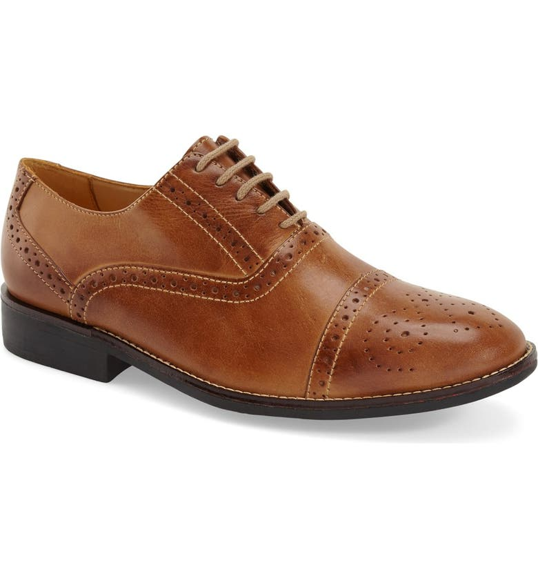SANDRO MOSCOLONI 'Barrett' Cap Toe Oxford, Main, color, TAN