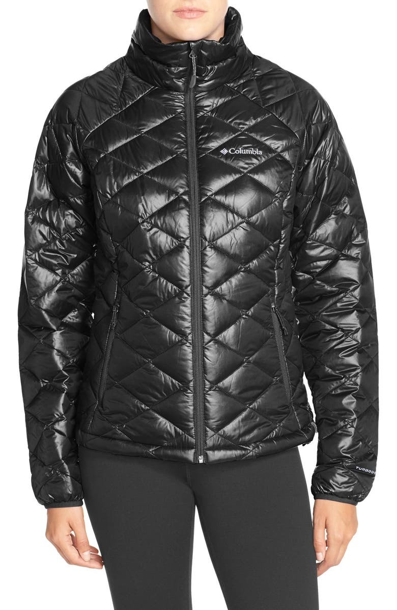 COLUMBIA 'Trask Mountain' 650 TurboDown<sup>™</sup> Water Resistant Jacket, Main, color, 001