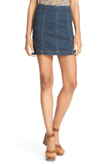 Image of Free People Modern Denim Mini Skirt