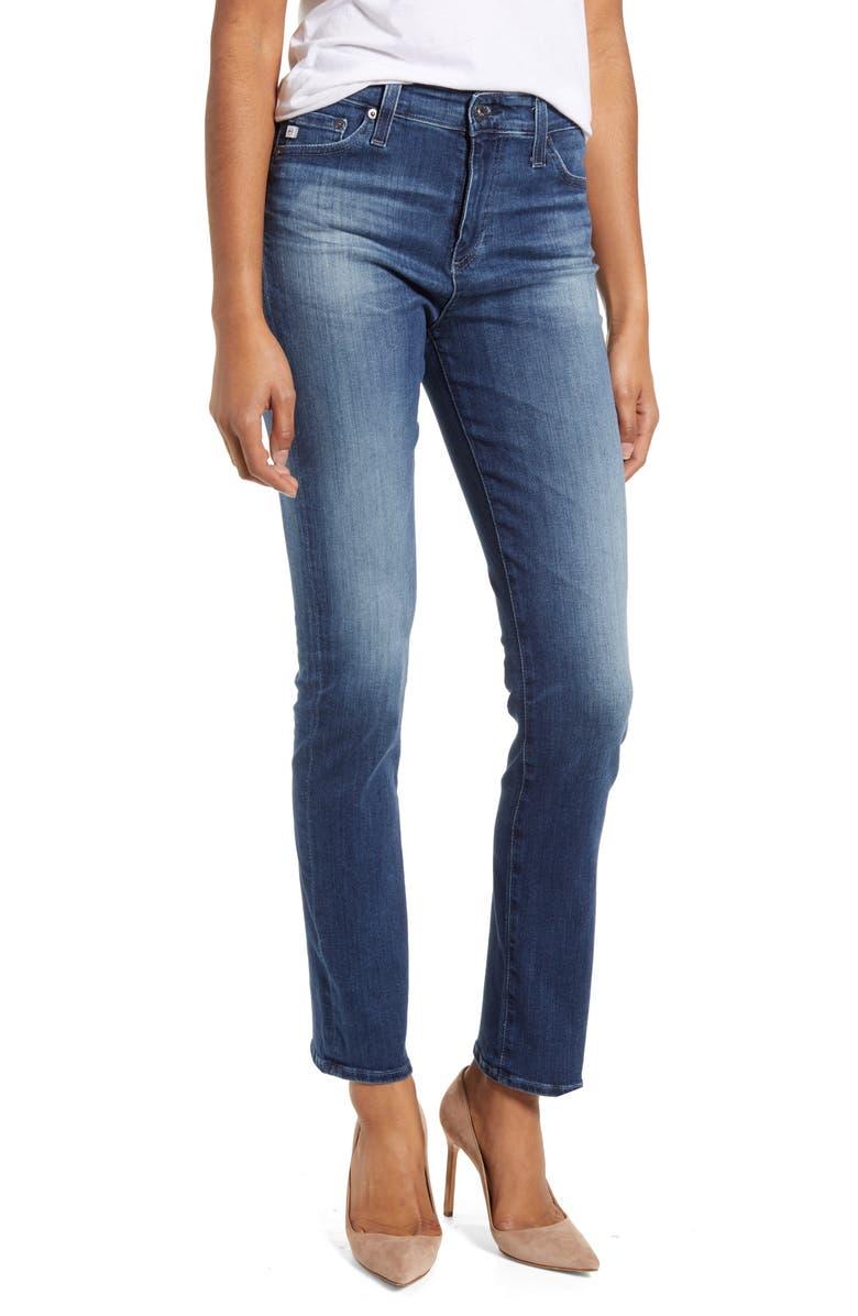 AG Mari High Waist Slim Straight Leg Jeans, Main, color, 12 YEARS IDIOSYNCRATIC