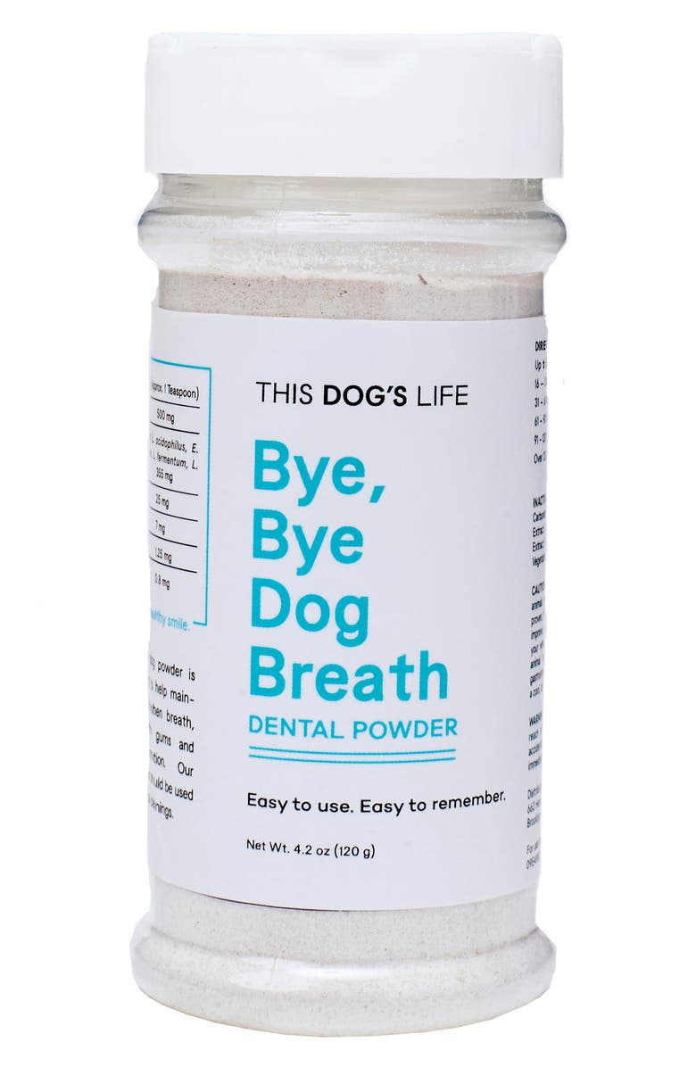 THIS DOGS LIFE This Dog's Life Bye Bye Dog Breath Dental Powder, Main, color, WHITE