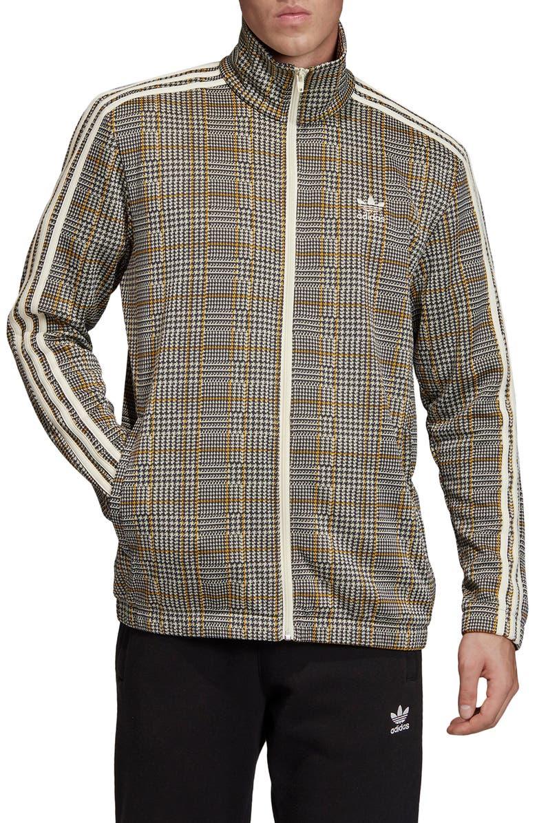 ADIDAS ORIGINALS Adicolor Tartan Track Jacket, Main, color, MULTICOLOR/ WHITE