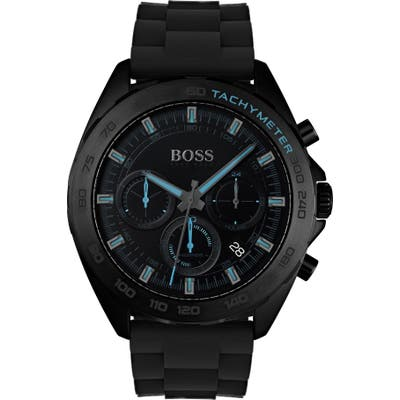 Boss Intensity Chronograph Silicone Strap Watch, 4m