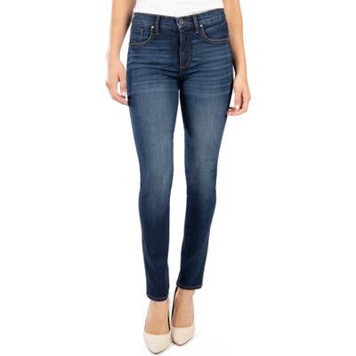 Petite Kut From The Kloth Diana Fab Ab High Waist Skinny Jeans, Blue