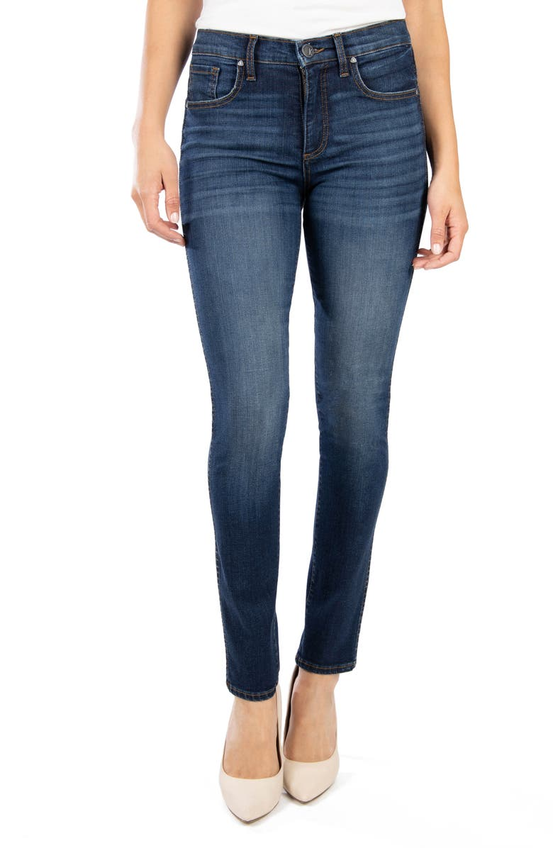 KUT FROM THE KLOTH Diana Fab Ab High Waist Skinny Jeans, Main, color, BUSY W/DK STONE