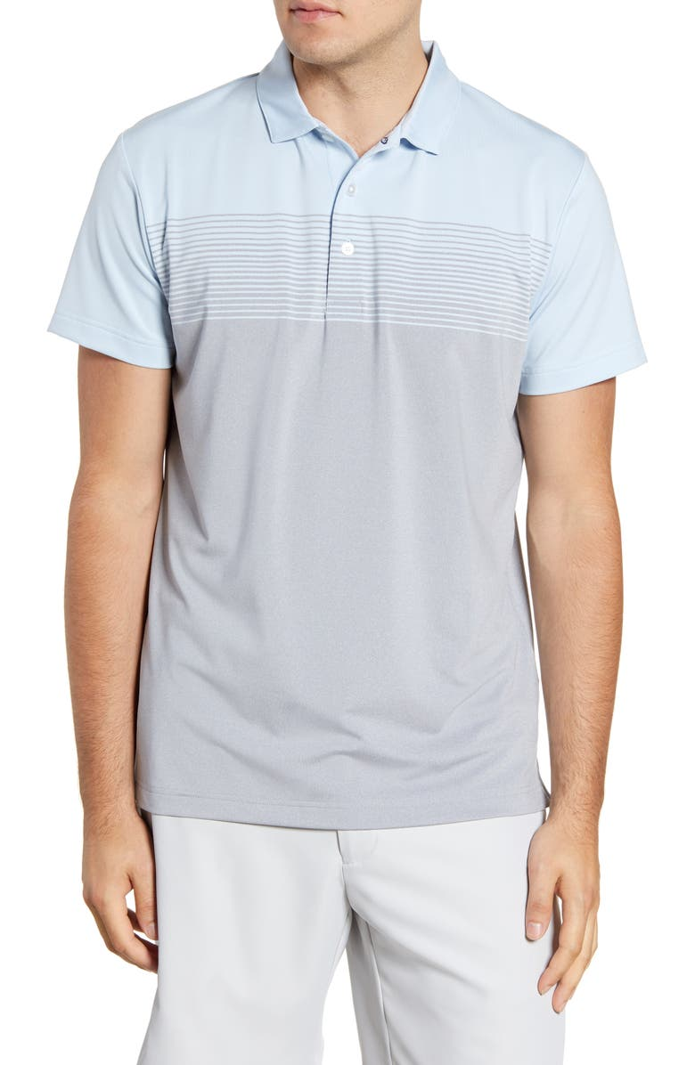 MIZZEN+MAIN Phil Mickelson Ombré Performance Golf Polo, Main, color, GREY