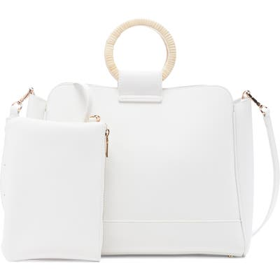 Sole Society Nicoh Faux Leather Satchel - White