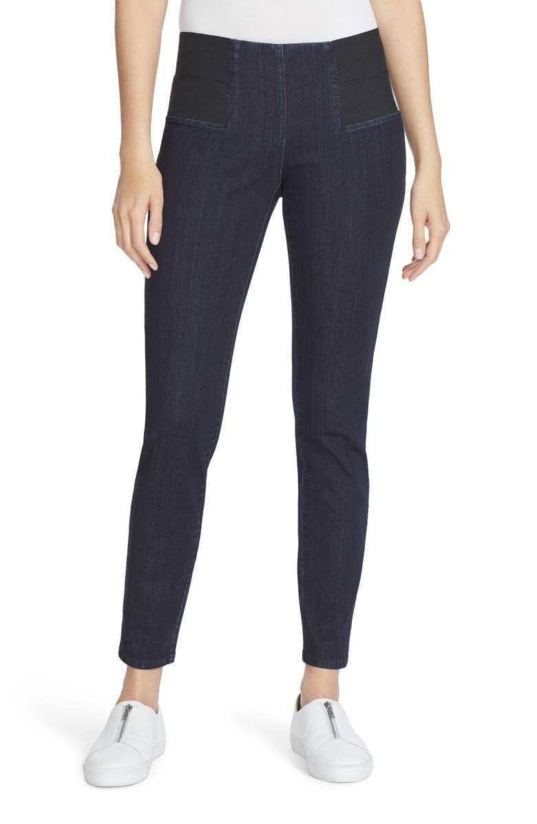 LAFAYETTE 148 NEW YORK Nolita Denim Leggings, Main, color, INDIGO