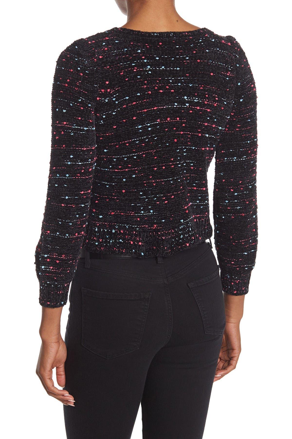 Image of Design History Funfetti Chenille Knit Sweater