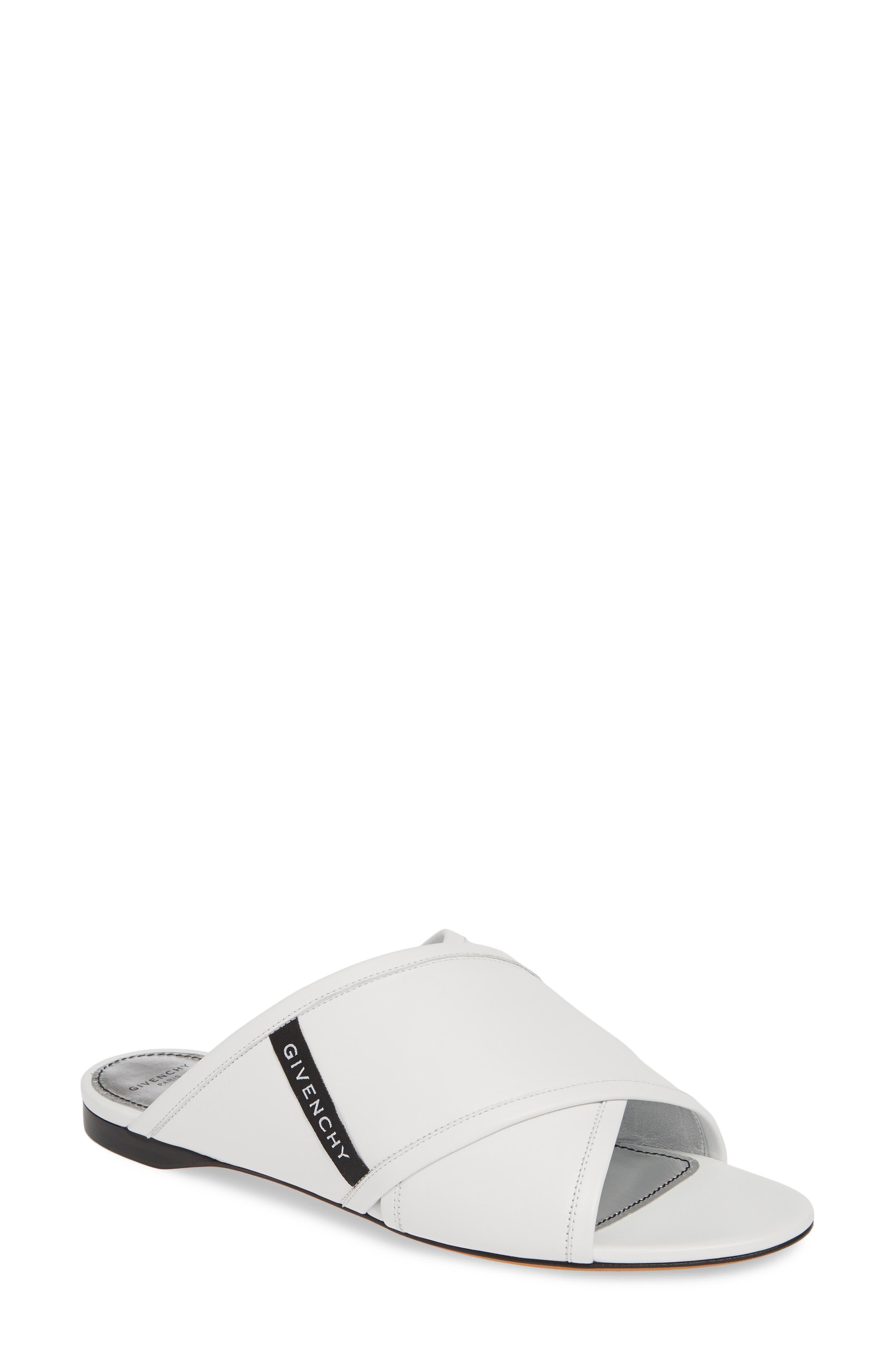 Givenchy Rivington Crisscross Sandal - White