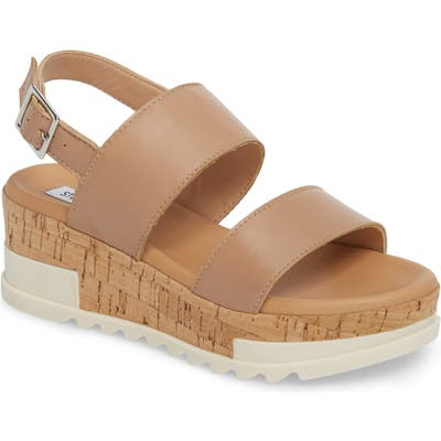 Steve Madden Brenda Wedge Sandal- Brown