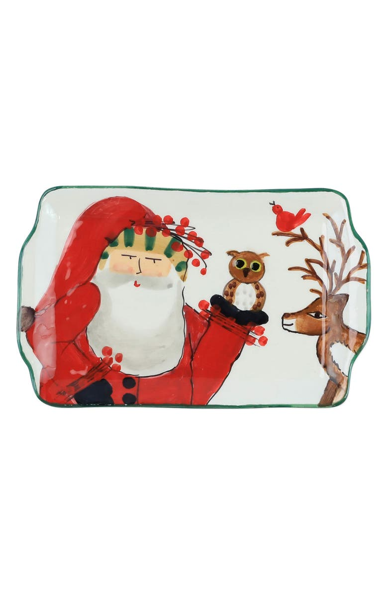 VIETRI Old St. Nick Rectangular Plate, Main, color, MULTI