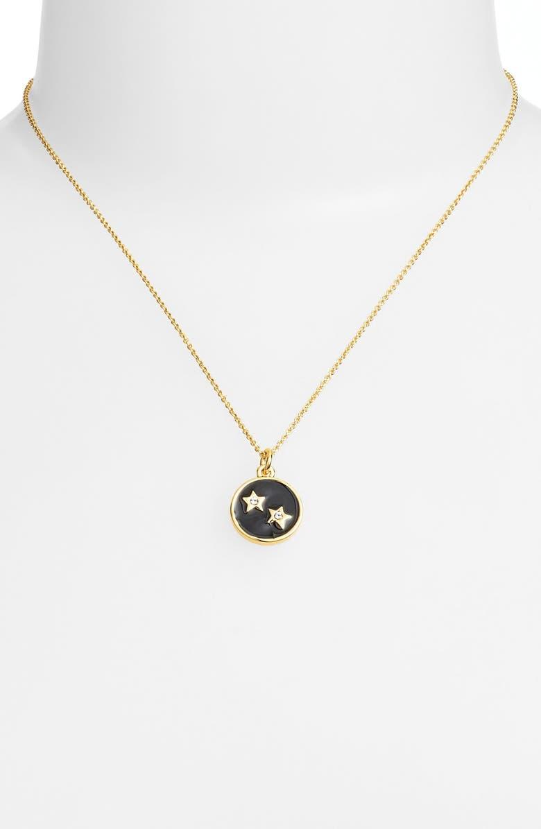 KATE SPADE NEW YORK 'zodiac' pendant necklace, Main, color, GEMINI- BLACK