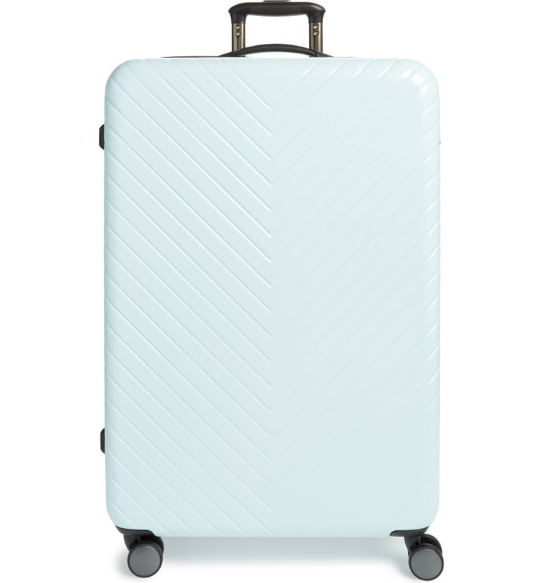 NORDSTROM Chevron 29-Inch Spinner Suitcase, Main, color, MINT YUCCA