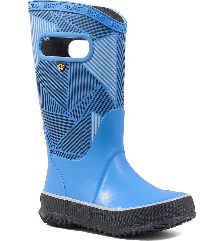BOGS Big Geo Rubber Rain Boot, Main, color, ROYAL MULTI