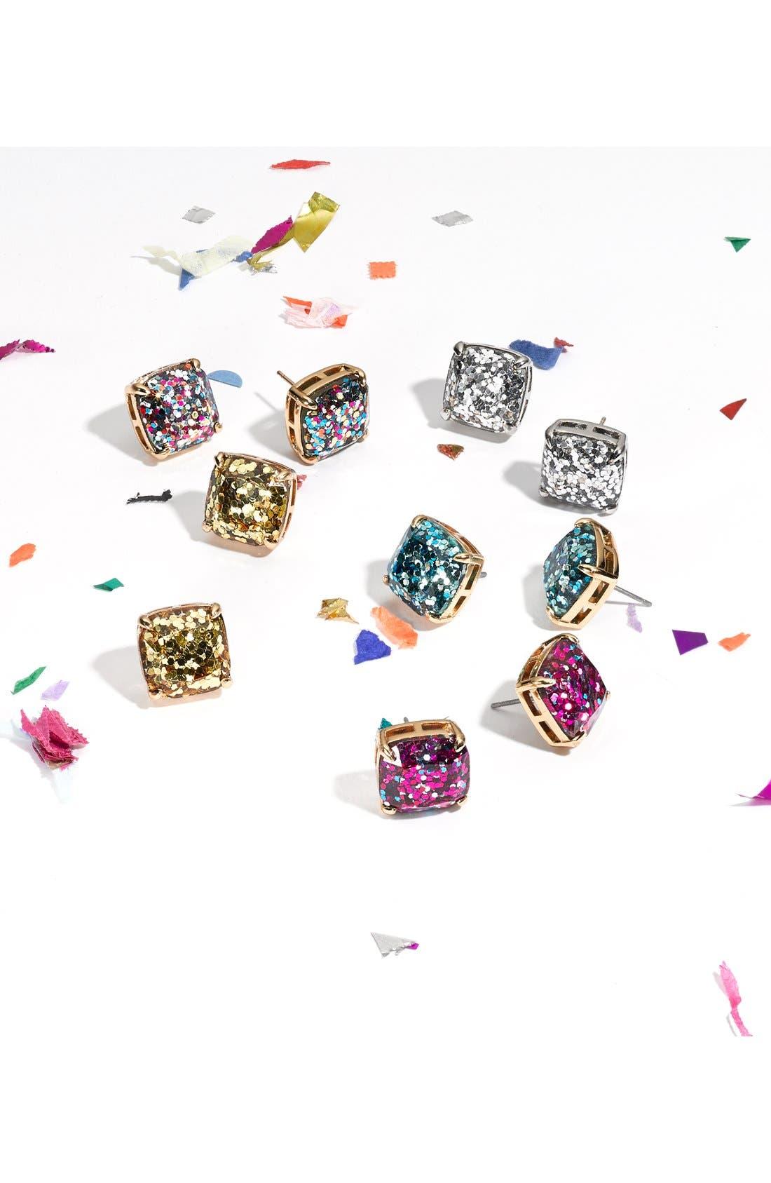 ,                             glitter stud earrings,                             Alternate thumbnail 4, color,                             MULTI GLITTER