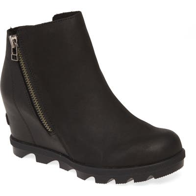 Sorel Joan Of Arctic Ii Waterproof Wedge Boot- Black