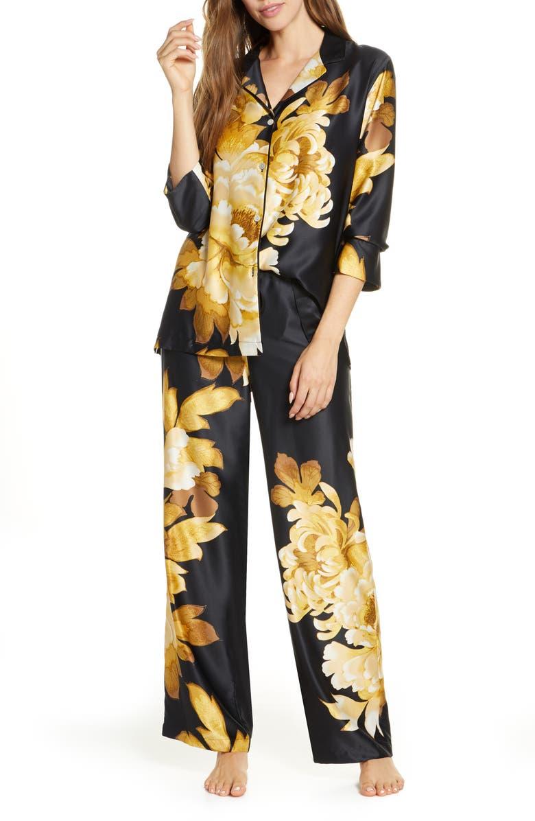 NATORI Opulent Satin Pajamas, Main, color, 001