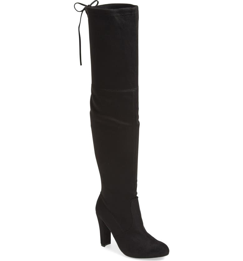 STEVE MADDEN 'Gorgeous' Over the Knee Boot, Main, color, 005