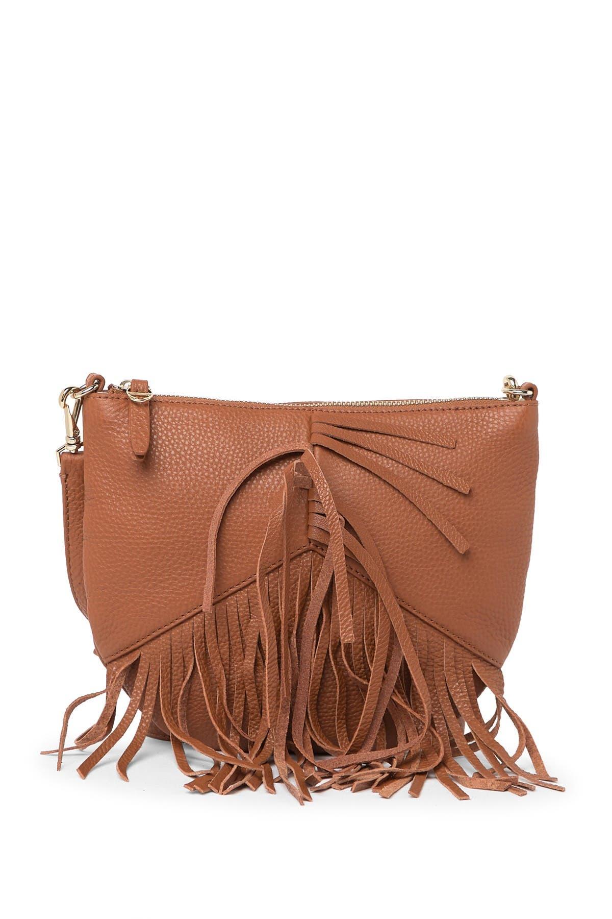 Image of Etienne Aigner Moda Fringe Leather Crossbody Bag