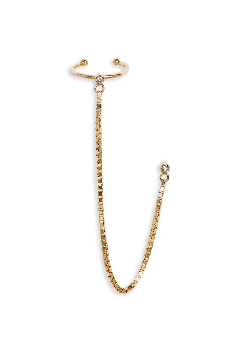 LOREN STEWART Fairy Floss Diamond Ear Cuff, Main, color, YELLOW GOLD