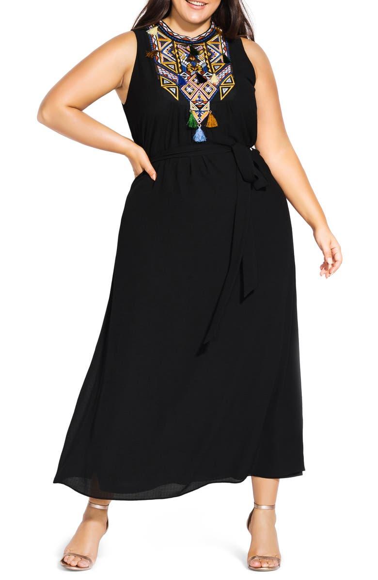 City Chic Urban Sleeveless Maxi Dress (Plus Size) | Nordstrom