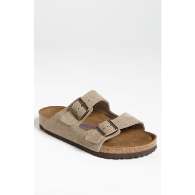 Birkenstock Arizona Soft Slide Sandal,13.5 - Beige