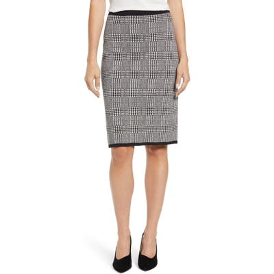 Vince Camuto Plaid Sweater Skirt, White