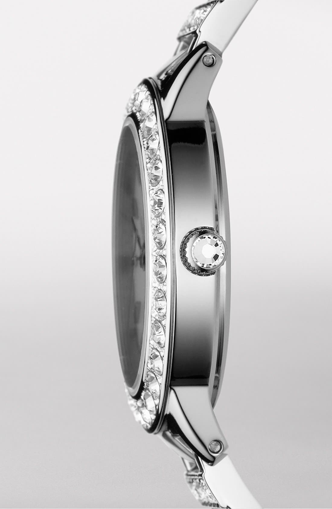 ,                             'Jesse' Crystal Embellished Bracelet Watch, 34mm,                             Alternate thumbnail 2, color,                             SILVER
