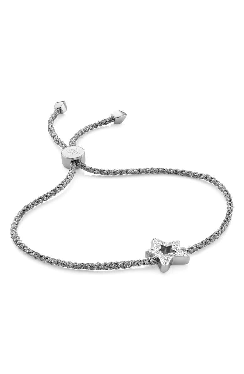 MONICA VINADER Alphabet Star Diamond Friendship Bracelet, Main, color, 040