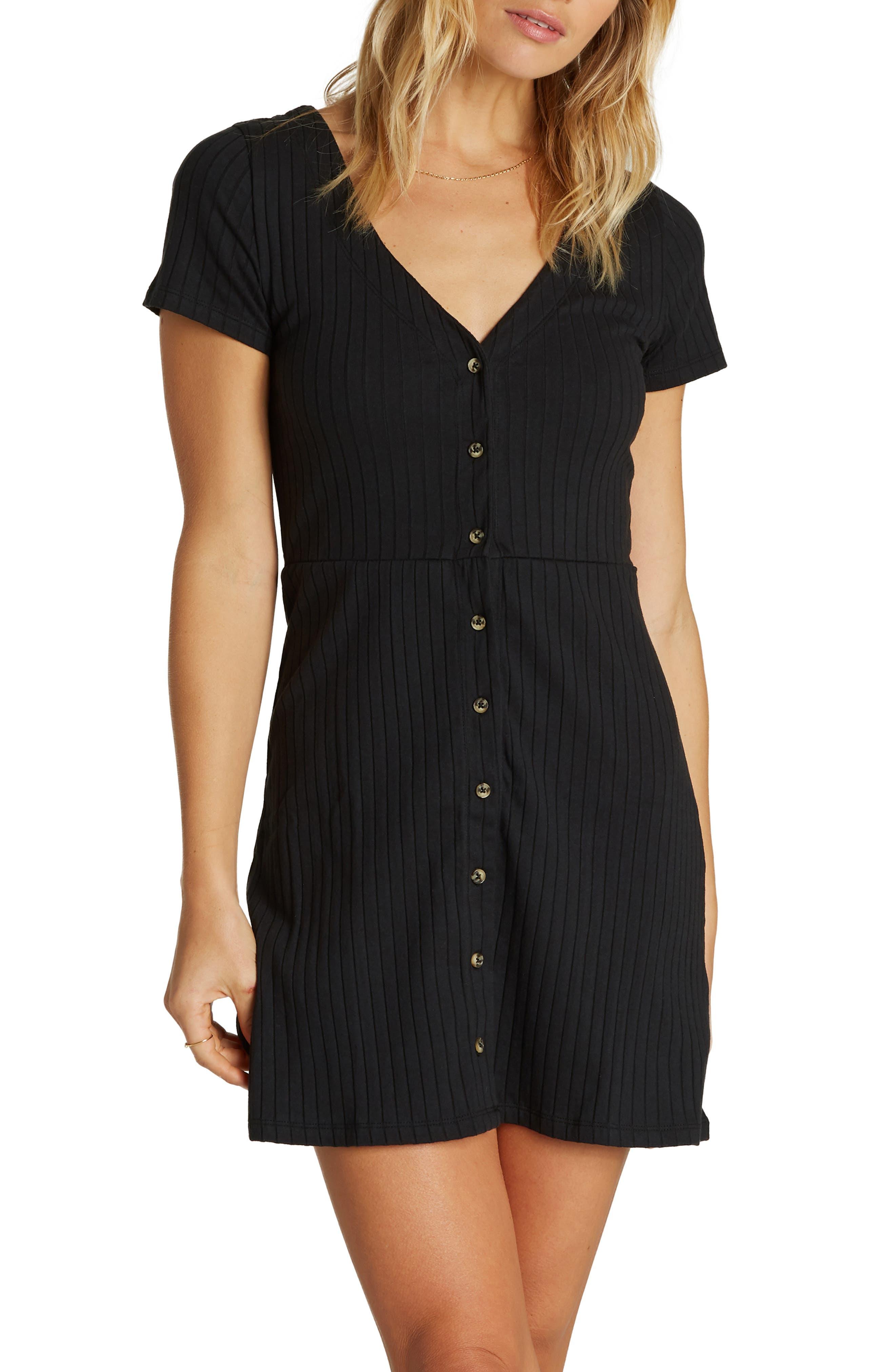 Billabong On With It Minidress, Black