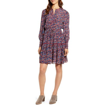Lucky Brand Carrie Floral Print Dress, Red
