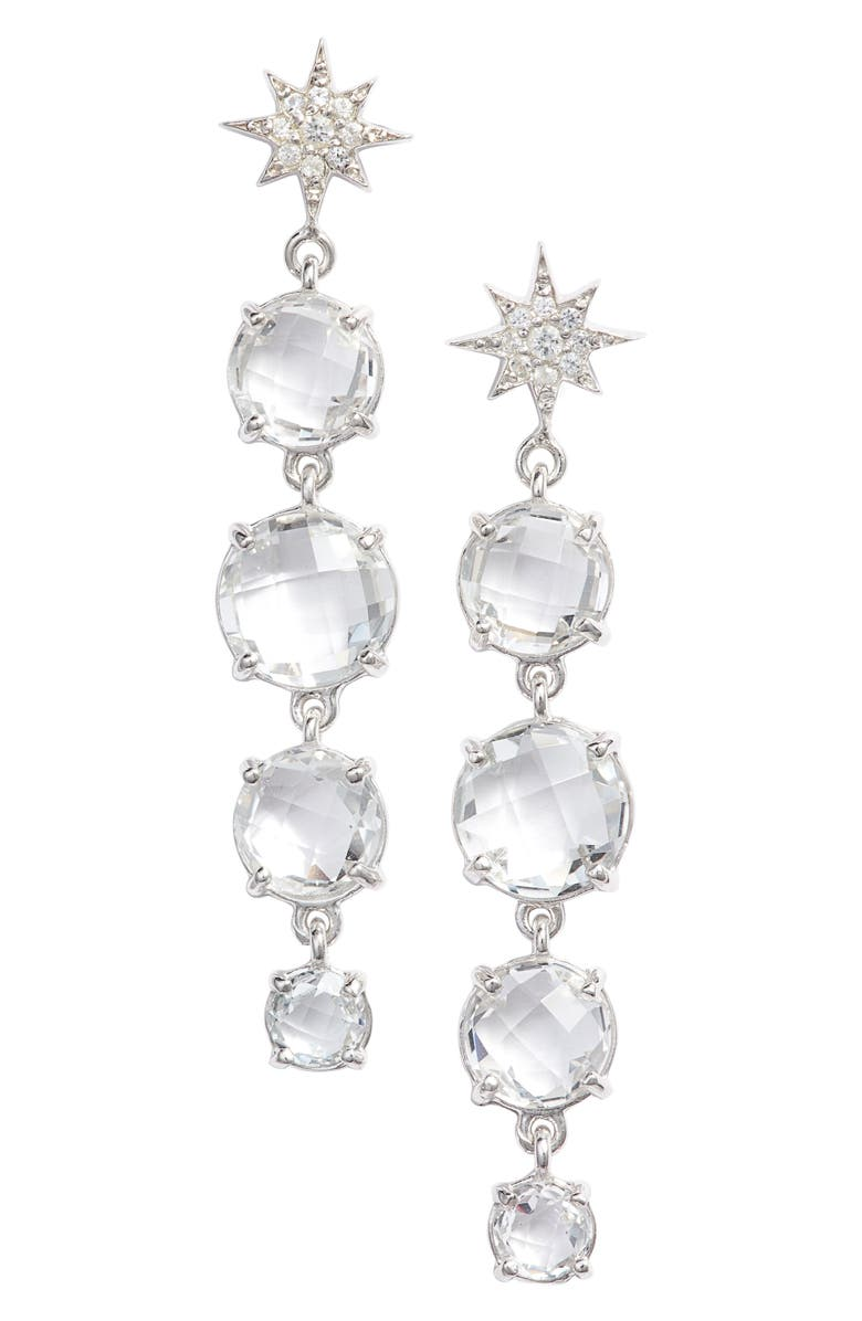 ANZIE North Star Drop Earrings, Main, color, SILVER