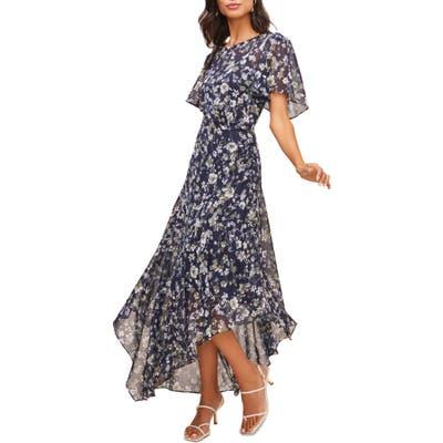 Astr The Label Floral Print Dress, Blue/green