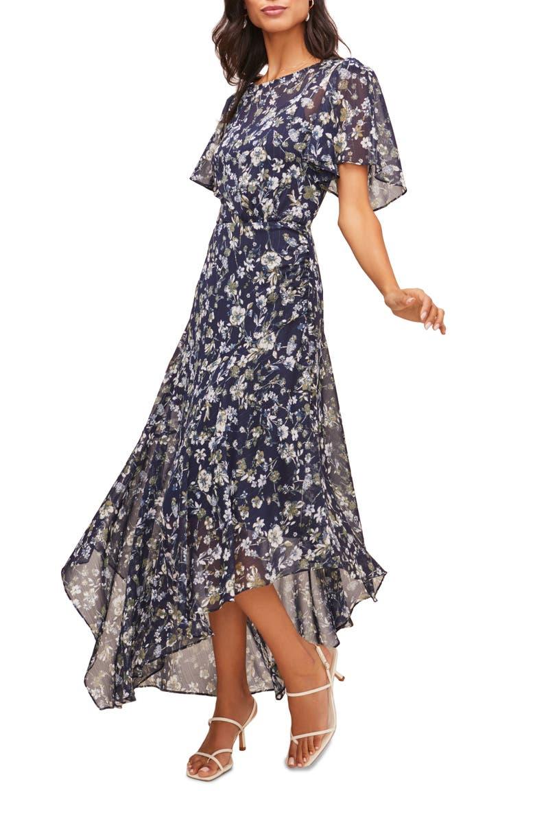 ASTR THE LABEL Floral Print Dress, Main, color, 440